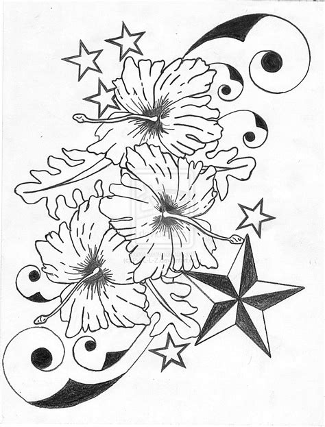Hawaii Flower Drawing at GetDrawings | Free download