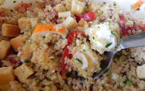 cuisiner boulgour recettes de salade de boulgour les recettes les mieux notées