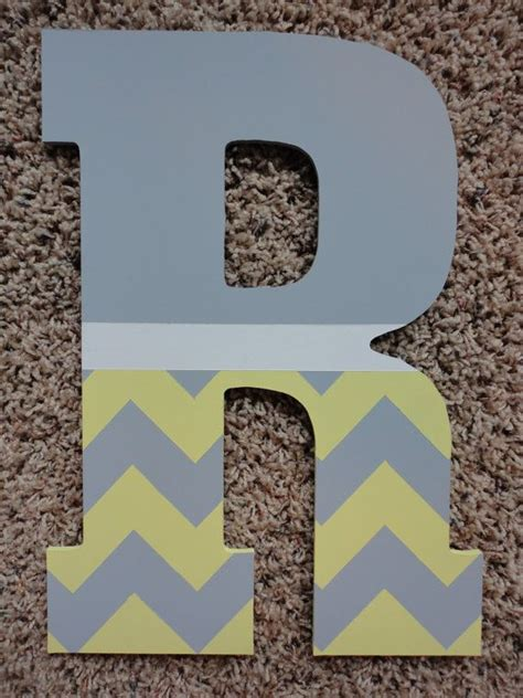 painted wooden letters painted chevron wooden letters by wallapproved