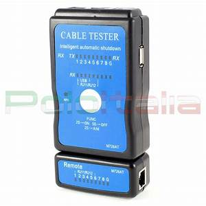 Tester Di Rete Ethernet Rj45 Usb Telefonico Rj11 Per Cavo