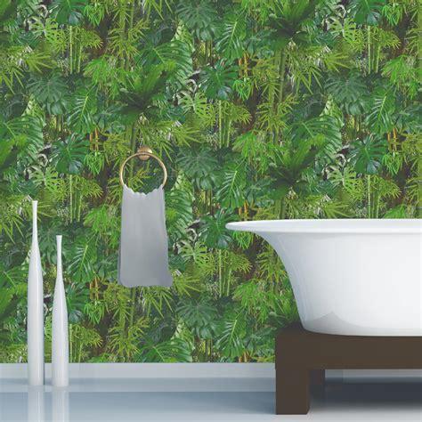 papier peint papier mur vegetal vert leroy merlin