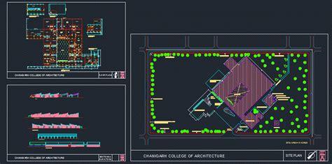 chandigarh college  architecture  autocad cad