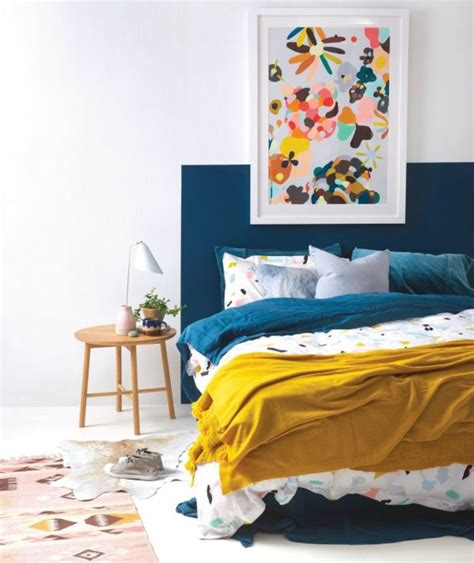 chambre bleu et jaune deco bleu canard et jaune