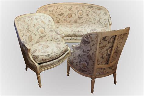 bergere canape salon d 39 époque louis xvi canapé corbeille et paire de