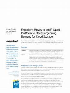 Expedient to Meet Cloud Storage Demand on Intel®-based ...