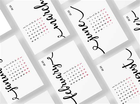 year calligraphy calendar  bordo  dribbble