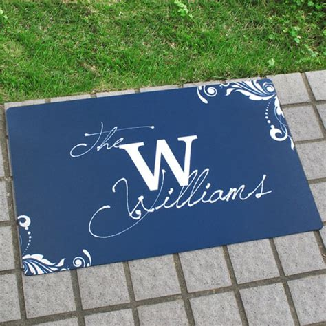 Make Your Own Doormat by Personalized Welcome Home Doormat