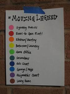 use this color coded moving legend and color coded dot With colored stickers for moving