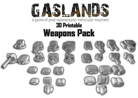 gaslands templates gaslands weapon and armour pack 3d printable hayland terrain