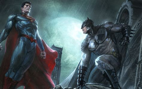 Superman And Batman Dc Comics Superheroes Artwork, Full Hd