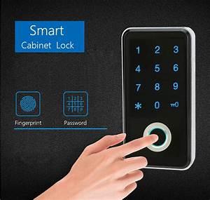 Zinc Alloy Electronic Password Fingerprint Smart Cabinet