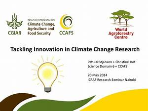 Tackling Innovation in Climate Change Research ...