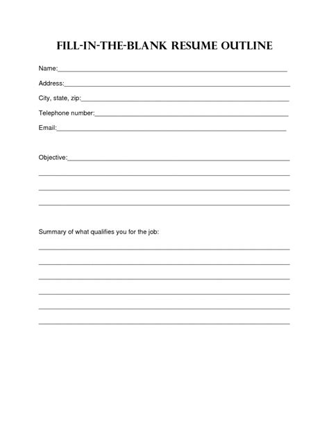 resume design blank resume template sample blank resume