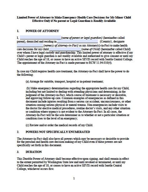 washington vehicle power of attorney form power of attorney power of attorney