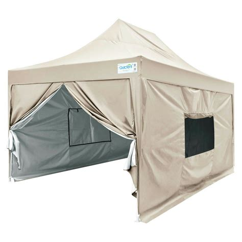 upgraded quictent  easy pop  canopy tent party tent  sides mesh beige