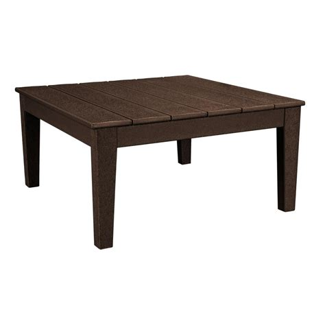 36 inch round outdoor coffee polywood newport 36 in square plastic outdoor coffee