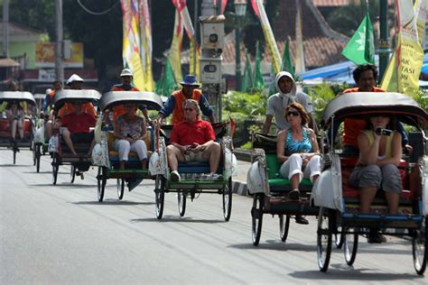 becak transportasi wisata yogyakarta