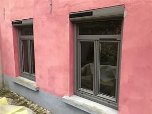 Fenetre Pvc Gris : chantier fen tres volets et porte en pvc sur merignies ~ Premium-room.com Idées de Décoration