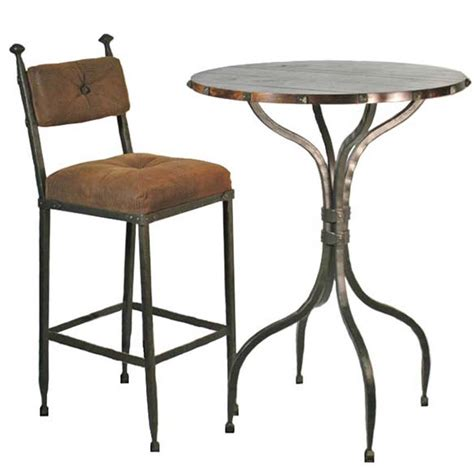 wrought iron pub table stone county ironworks forest hill bar table w 30 quot top