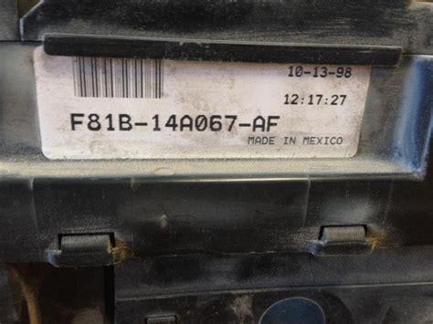 Duty Fuse Box by Purchase 99 Ford F250 Duty 6 8l Fuse Box F81b 14a067
