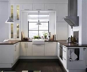 Küche U Form Offen : k chenideen f r kleine k chen mit wei e k chenm bel inklusive braun massivholz arbeitsplatte im ~ Sanjose-hotels-ca.com Haus und Dekorationen