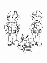 Bob Coloring Builder Printable Recommended Cartoon sketch template