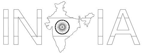 Indian Independence Day Coloring Pages by Map Of India Coloring Page Coloring Pages