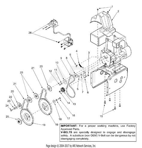 mtd ase  parts diagram  belt drive