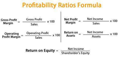 profitability ratios formula calculate profitability