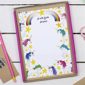 personalised unicorn children39s writing set by alexia With children s letter writing sets
