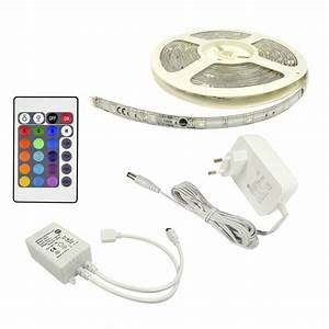 kit ruban led 5m multicolore flexled inspire leroy merlin With carrelage adhesif salle de bain avec eclairage exterieur bandeau led