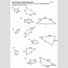 Similar Triangles Worksheet By Durhampotter  Teaching Resources