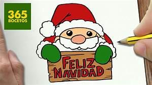 COMO DIBUJAR SANTA CLAUS PARA NAVIDAD PASO A PASO: Dibujos kawaii navideños draw a santa claus
