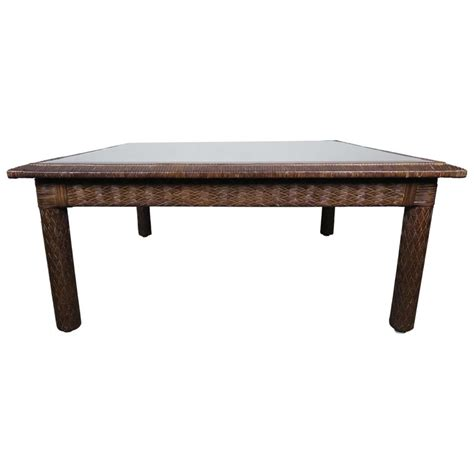 Frequent special offers and discounts up to 70% off for all products! Midcentury Leather Woven Coffee Table by ENT For Sale at 1stdibs