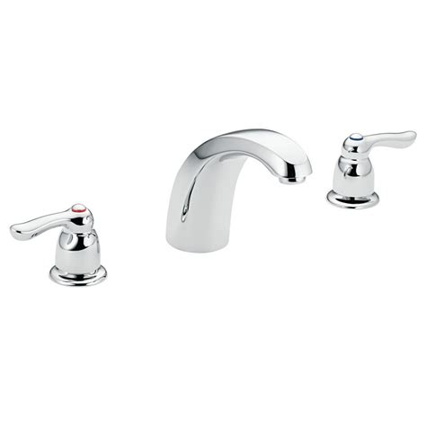 Moen Chateau Bathroom Faucet by Moen Chateau 2 Handle Low Arc Tub Trim In Chrome