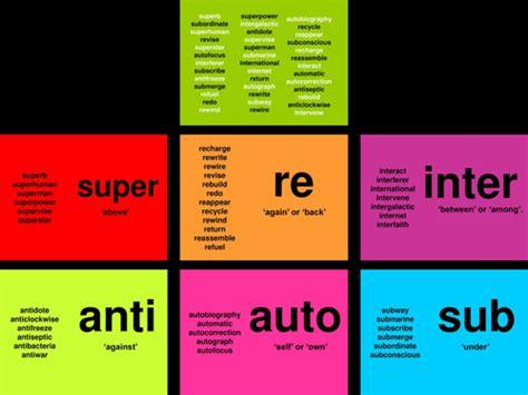Spag Prefixes (super Re Inter Anti Auto Sub) By Mrdonegani