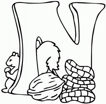 Letter Coloring Pages Sheet Preschool Nut Colouring