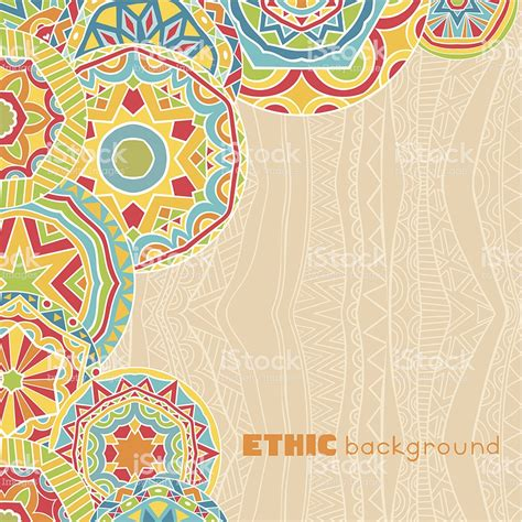 What Is Ethnic Background Bright Rounds At Ethnic Background Stock Vector More