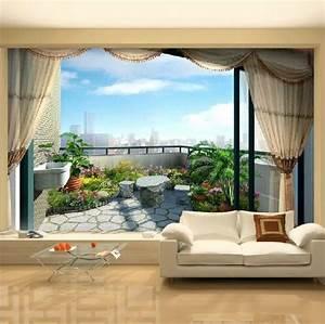 yeni 3 d duvar kagitlari 18 mayis 2018 dekorasyon stil With markise balkon mit 3d tapete wohnzimmer