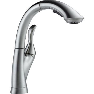 delta linden single handle pull out sprayer kitchen faucet