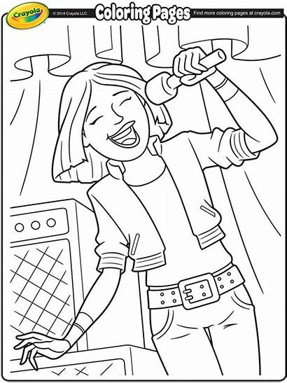 Coloring Singer Lead Rock Band Pages Crayola
