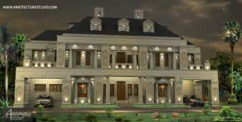 colonial luxury house plans 5500 sq ft 5 bedroom colonial style luxury home design indianhomedesign com