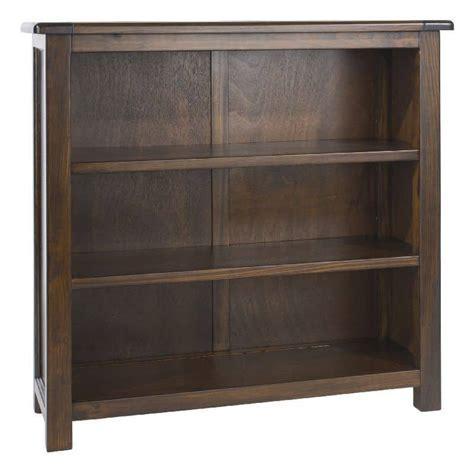 Boston Premium Dark Wood Low Bookcase   Cheap Furniture