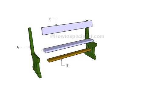 deck bench plans free howtospecialist patio bench plans howtospecialist how to build step