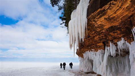 el duro invierno en los grandes lagos estados unidos