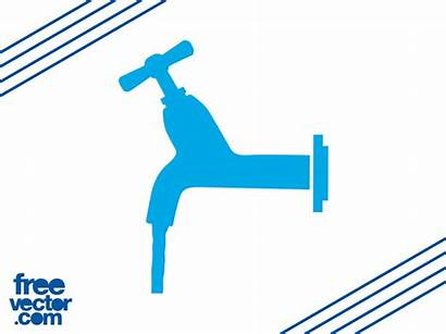 Water Tap Icon Icons Vectors Running Graphics