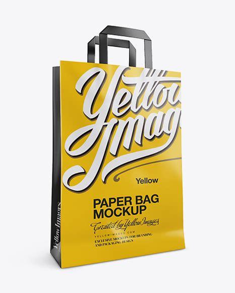 300+ best shopping bag mockup templates. Metallic Shopping Bag With Rope Handle Mockup - Metallic ...