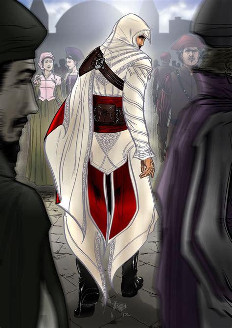 Ezio Auditore Da Firenze From Assassins Creed Game Art