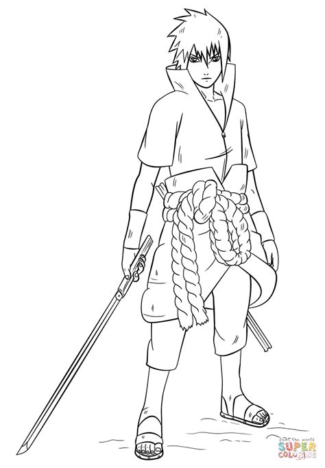 desenho de sasuke uchiha de naruto  colorir desenhos