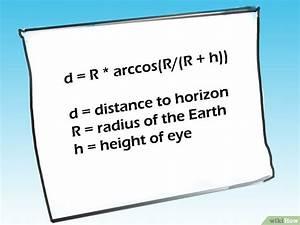 Arccos Berechnen : die entfernung bis zum horizont berechnen wikihow ~ Themetempest.com Abrechnung